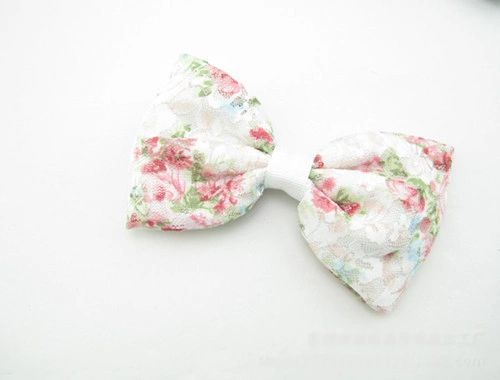 Chic Korean Sweet Bow Lace Floral Hairgrip