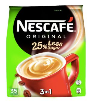 Nescafe Org 3IN1 25%L/SUGAR 35X15g