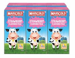 M'gold UHT Strawberry Milk 6X200ml