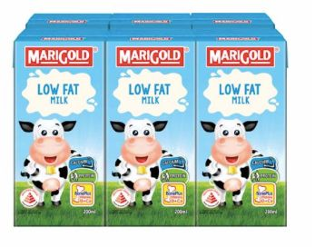 M'gold UHT Low Fat Milk 6X200ml