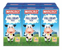 M'gold UHT Full Cream Milk 6X200ml