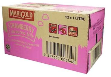 Marigold UHT Strawberry Milk 12X1L