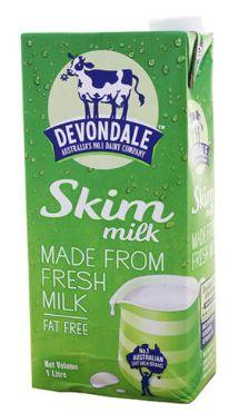 Devondale Milk Skim 1L