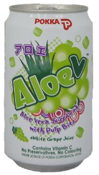 Pokka Aloe V White Grape 300ml