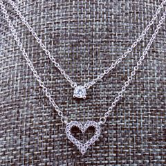 Sweet Chic Heart Beading Dual Layer Necklace