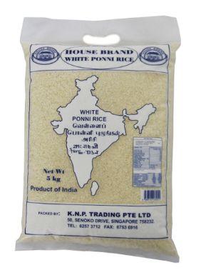 House Brand White Ponni Rice 5KG