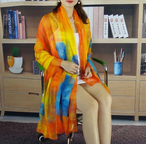 Fashion Floral Print Long Scarf Shawl