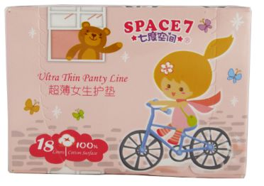 Space 7 Panty Liner 150MM 18S
