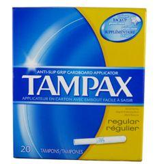 Tampax R/Regulier 20 Tampons