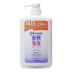 Johnson's pH5.5 2 in 1 Body Wash 1L