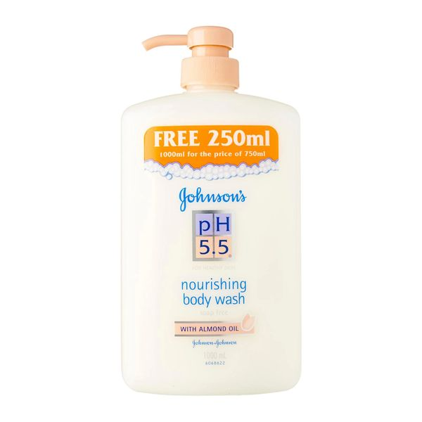 Johnson's pH 5.5 Nourishing Body Wash with Almond Oil 1L