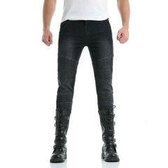 Fashion Rushed Fitted Zip Up Youthful Men Jeans