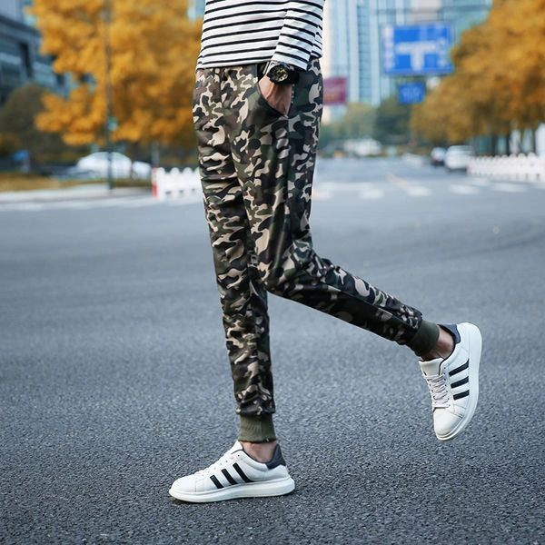 Chic Camouflage Elastic Sport Bunch Of Foot Pants