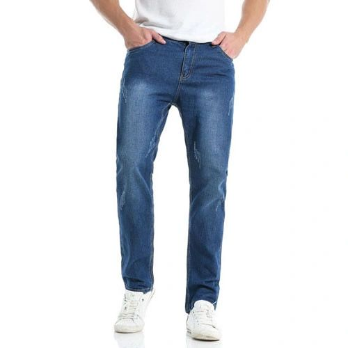 Stylish Straight Easy Match Men Long Jeans