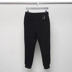 Black Easy Match Drawstring Waist Harem Pants