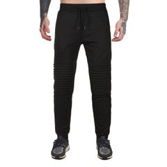 Autumn Draped Solid Drawstring Fitted Sporty Pant