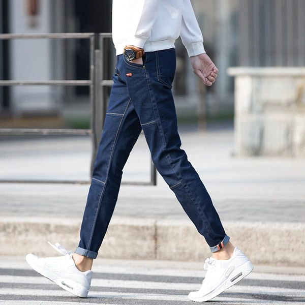 Fashion Personality Solid Pocket Design Men Jeans