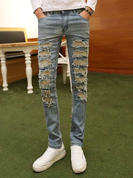 Chic Hole Personality Skinny Easy Match Jeans
