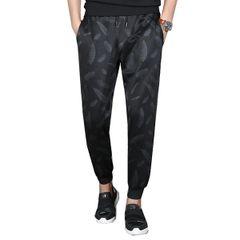 Autumn Printed Pocket Design Cone Men Pant