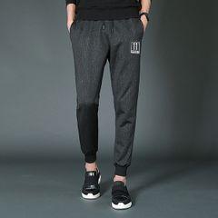 Casual Solid Pocket Design Drawstring Men Pant