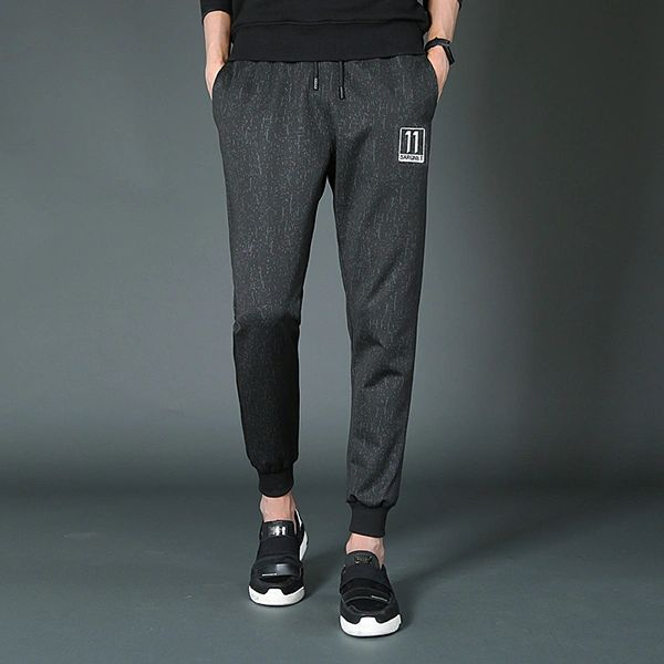 Casual Solid Pocket Design Drawstring Men Pant