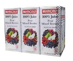 Marigold Pear & Mix Berries 6X250ML