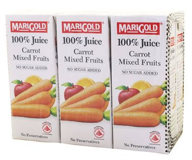 Marigold 100%CARROT Mixed Fruits 6X250ML