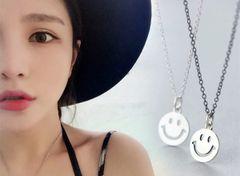 Simple Design Smile Round Shape Necklace