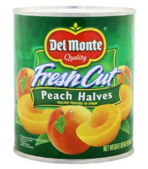 Delmonte F/Cut Peach Halves 825G