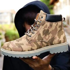 Hot Selling Camouflage Lace Up Boots For Men
