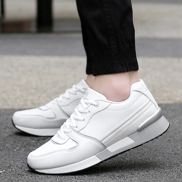 Round Toe Wedge Sneakers For Couple
