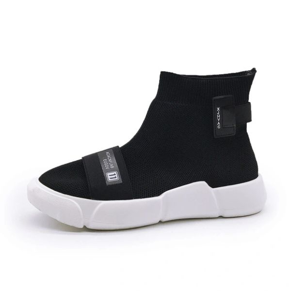 Sporty High Tops Sneakers Sock Boots For Couples