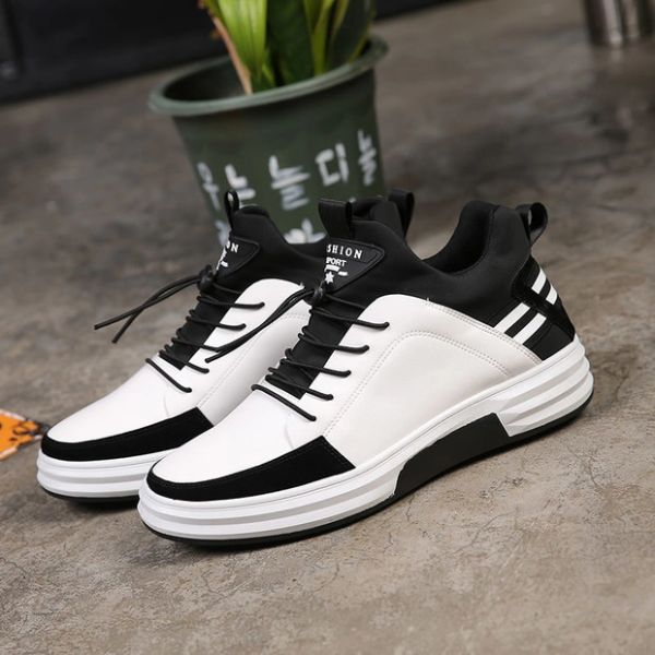 Patchwork Lace Up Leisure Men Sneakers