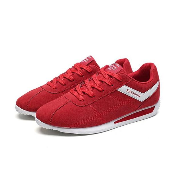 Casual Letter Lace Up Suede Men Sneakers