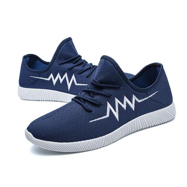 Gauze Breathable Slip On Men Sneakers