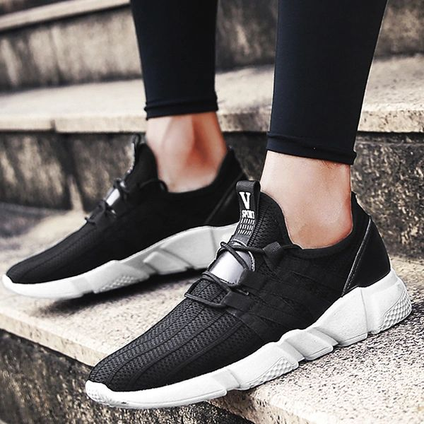 Hot Sale Patch Lace Up Men Sport Shoes