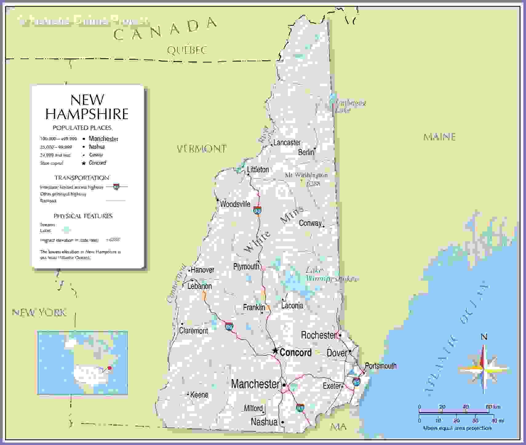 New Hampshire Equipment Appraisals Map for New Hampshire Equipment Appraisers Region