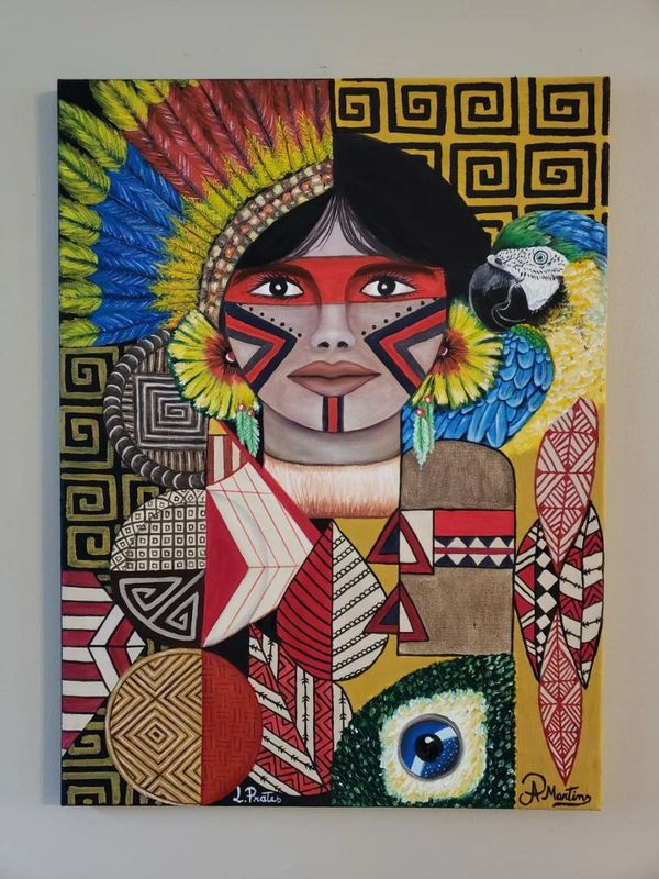 Brazilian Indigenous Culture painting by Ana Paula Martins,oil painting,wall art,canvas art,painting