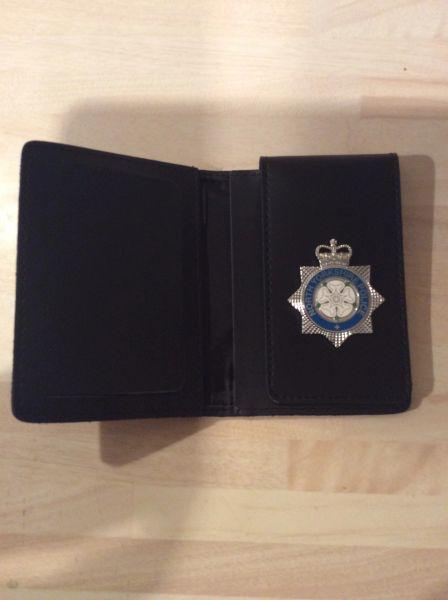 North Yorkshire Police warrant card wallet