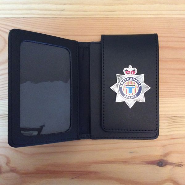 Northumbria Police badged warrant card wallet