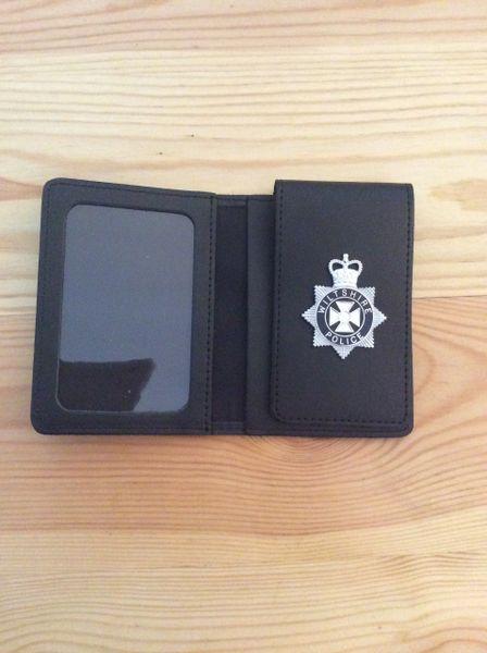 Wiltshire Police badged warrant card wallet