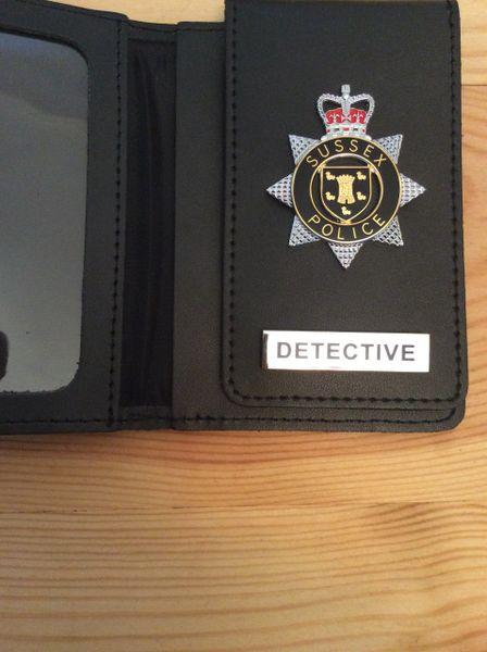 Sussex Police warrant card wallet -Detective version