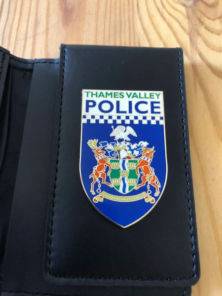 Thames Valley Police badged Warrant Card Wallet