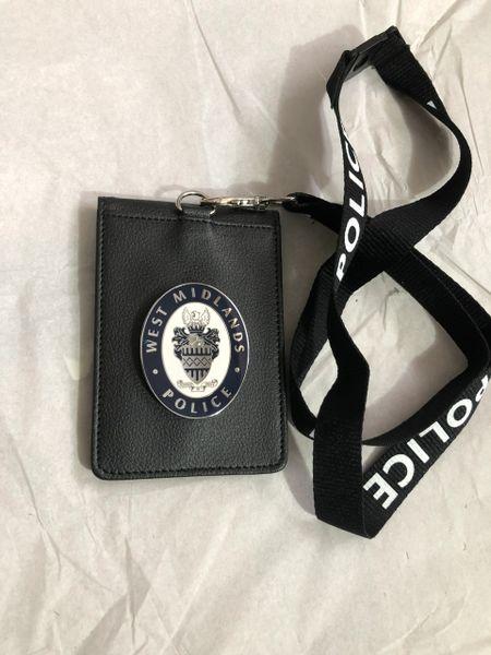 West Midlands Police badged neck holder