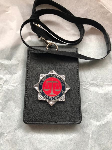 Close Protection Officer neck ID card holder