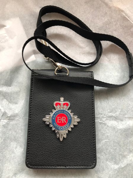 HMP badged neck card Holder & lanyard