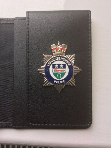Leicestershire Police badged Warrant card wallet #2
