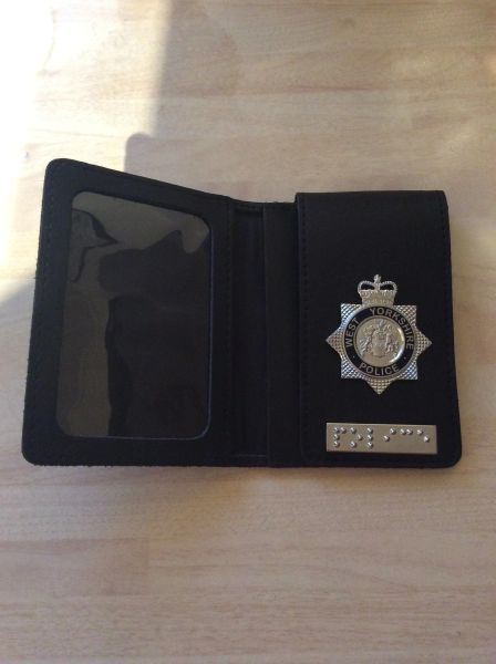 West Yorkshire police warrant card holder with braille