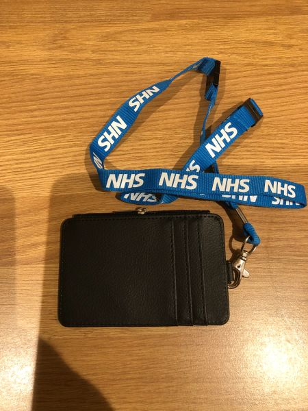 NHS safety lanyard & cardholder