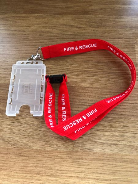 Fire and Rescue lanyard and card holder